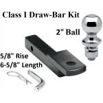 "Class 1 Drawbar kit w/ 2"" Trailer Hitch Ball 5/8"" Rise 1-1/4"" Receiver Mount"