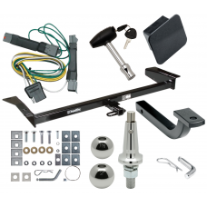 """Trailer Tow Hitch For 92-97 Ford Crown Victoria Mercury Grand Marquis Ultimate Package w/ Wiring Draw Bar Kit Interchange 2"""" 1-7/8"""" Ball Lock and Cover"""