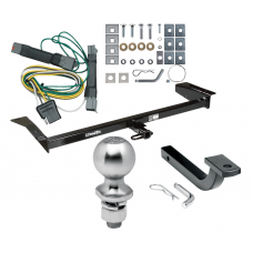 "Trailer Tow Hitch For 92-97 Ford Crown Victoria Mercury Grand Marquis Complete Package w/ Wiring Draw Bar Kit and 2"" Ball"