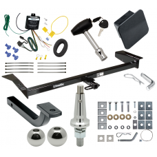 "Trailer Tow Hitch For 98-09 Ford Crown Victoria 81-11 Lincoln Town Car 98-11 Mercury Ultimate Package w/ Wiring Draw Bar Kit Interchange 2"" 1-7/8"" Ball Lock and Cover"