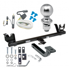 "Trailer Tow Hitch For 87-95 Chrysler LeBaron 88-93 Dodge Dynasty Complete Package w/ Wiring Draw Bar Kit and 2"" Ball"