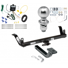 "Trailer Tow Hitch For 89-98 Ford Thunderbird Lincoln Mark VIII Mercury Cougar Complete Package w/ Wiring Draw Bar Kit and 2"" Ball"