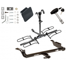 Trailer Tow Hitch For 97-05 Chevy Malibu 97-99 Oldsmobile Cutlass 4 Dr Platform Style 2 Bike Rack Hitch Lock and Cover