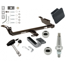"""Trailer Tow Hitch For 97-05 Chevy Malibu 97-99 Oldsmobile Cutlass 4 Dr Ultimate Package w/ Wiring Draw Bar Kit Interchange 2"""" 1-7/8"""" Ball Lock and Cover"""