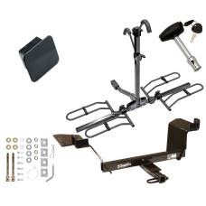Trailer Tow Hitch For 97-04 Buick Regal 97-08 Pontiac Grand Prix Platform Style 2 Bike Rack Hitch Lock and Cover