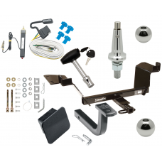 """Trailer Tow Hitch For 97-04 Buick Regal 97-08 Pontiac Grand Prix Ultimate Package w/ Wiring Draw Bar Kit Interchange 2"""" 1-7/8"""" Ball Lock and Cover"""