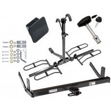 Trailer Tow Hitch For 98-04 Cadillac Seville Platform Style 2 Bike Rack Hitch Lock and Cover