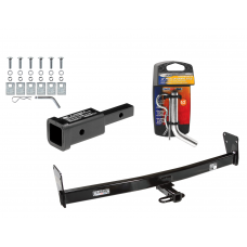 "Trailer Tow Hitch For 95-05 Chevy Blazer GMC Jimmy Downsize 96-01 Oldsmobile Bravada w/ 2"" Adapter and Pin/Clip"