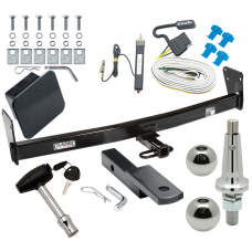 "Trailer Tow Hitch For 95-05 Chevy Blazer GMC Jimmy Downsize 96-01 Oldsmobile Bravada Ultimate Package w/ Wiring Draw Bar Kit Interchange 2"" 1-7/8"" Ball Lock and Cover"