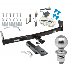 "Trailer Tow Hitch For 95-05 Chevy Blazer GMC Jimmy Downsize 96-01 Oldsmobile Bravada Complete Package w/ Wiring Draw Bar Kit and 2"" Ball"