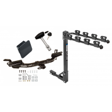 Trailer Tow Hitch w/ 4 Bike Rack For 97-04 Buick Park Avenue tilt away adult or child arms fold down carrier w/ Lock and Cover