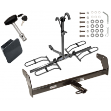 Trailer Tow Hitch For 83-04 Chevy GMC S10 S15 Sonoma Isuzu Hombre Platform Style 2 Bike Rack Hitch Lock and Cover