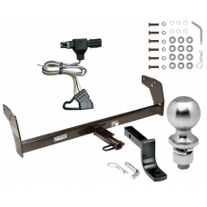 "Trailer Tow Hitch For 85-97 Chevy S10 85-90 GMC S15 96-97 Isuzu Hombre Complete Package w/ Wiring Draw Bar Kit and 2"" Ball"