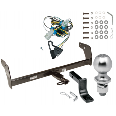 """Trailer Tow Hitch For 98-04 Chevy S10 GMC Sonoma 98-00 Isuzu Hombre Complete Package w/ Wiring Draw Bar Kit and 2"""" Ball"""