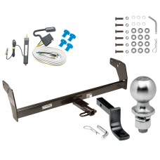 "Trailer Tow Hitch For 83-84 Chevy S10 GMC S15 w/Standard Bed & Step Bumper Complete Package w/ Wiring Draw Bar Kit and 2"" Ball"