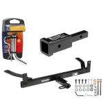 """Trailer Tow Hitch For 86-03 Ford Taurus Mercury Sable Lincoln Continental w/ 2"""" Adapter and Pin/Clip"""