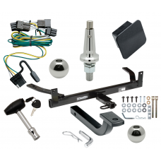 """Trailer Tow Hitch For 00-03 Ford Taurus Mercury Sable Ultimate Package w/ Wiring Draw Bar Kit Interchange 2"""" 1-7/8"""" Ball Lock and Cover"""