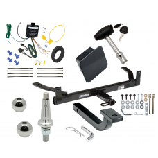 """Trailer Tow Hitch For 88-02 Lincoln Continental Ultimate Package w/ Wiring Draw Bar Kit Interchange 2"""" 1-7/8"""" Ball Lock and Cover"""