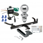 """Trailer Tow Hitch For 86-03 Ford Taurus 86-99 Mercury Sable Complete Package w/ Wiring Draw Bar Kit and 2"""" Ball"""