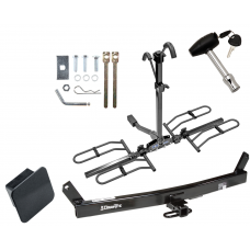Trailer Tow Hitch For 93-04 Volvo 580 C70 S70 V70 Platform Style 2 Bike Rack Hitch Lock and Cover