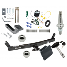 """Trailer Tow Hitch For 93-04 Volvo 580 C70 S70 V70 Ultimate Package w/ Wiring Draw Bar Kit Interchange 2"""" 1-7/8"""" Ball Lock and Cover"""