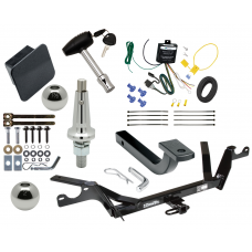 """Trailer Tow Hitch For 97-99 Cadillac DeVille Ultimate Package w/ Wiring Draw Bar Kit Interchange 2"""" 1-7/8"""" Ball Lock and Cover"""