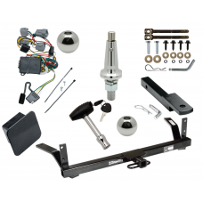 """Trailer Tow Hitch For 98-04 Chrysler Dodge Intrepid Ultimate Package w/ Wiring Draw Bar Kit Interchange 2"""" 1-7/8"""" Ball Lock and Cover"""
