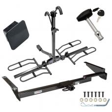Trailer Tow Hitch For 99-03 Lexus RX300 01-03 Toyota Highlander Platform Style 2 Bike Rack Hitch Lock and Cover