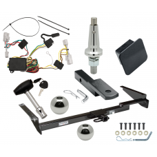 """Trailer Tow Hitch For 01-03 Toyota Highlander Ultimate Package w/ Wiring Draw Bar Kit Interchange 2"""" 1-7/8"""" Ball Lock and Cover"""