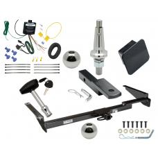 """Trailer Tow Hitch For 99-03 Lexus RX300 Ultimate Package w/ Wiring Draw Bar Kit Interchange 2"""" 1-7/8"""" Ball Lock and Cover"""