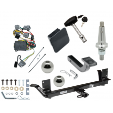 """Trailer Tow Hitch For 02 Chrysler Concorde 99 LHS Ultimate Package w/ Wiring Draw Bar Kit Interchange 2"""" 1-7/8"""" Ball Lock and Cover"""