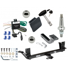 """Trailer Tow Hitch For 03-04 Chrysler Concorde 00-01 LHS Ultimate Package w/ Wiring Draw Bar Kit Interchange 2"""" 1-7/8"""" Ball Lock and Cover"""