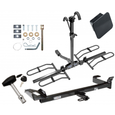 Trailer Tow Hitch For 99-03 Saab 9-3 Convertible Platform Style 2 Bike Rack Hitch Lock and Cover