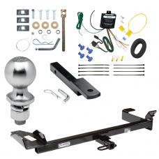 """Trailer Tow Hitch For 99-03 Saab 9-3 Convertible Complete Package w/ Wiring Draw Bar Kit and 2"""" Ball"""