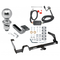"""Trailer Tow Hitch For 00-04 Subaru Outback Wagon Except Sport Complete Package w/ Wiring Draw Bar Kit and 2"""" Ball"""