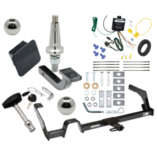 """Trailer Tow Hitch For 00-04 Subaru Outback Legacy Ultimate Package w/ Wiring Draw Bar Kit Interchange 2"""" 1-7/8"""" Ball Lock and Cover"""