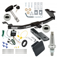 """Trailer Tow Hitch For 99-05 Saab 9-5 Ultimate Package w/ Wiring Draw Bar Kit Interchange 2"""" 1-7/8"""" Ball Lock and Cover"""