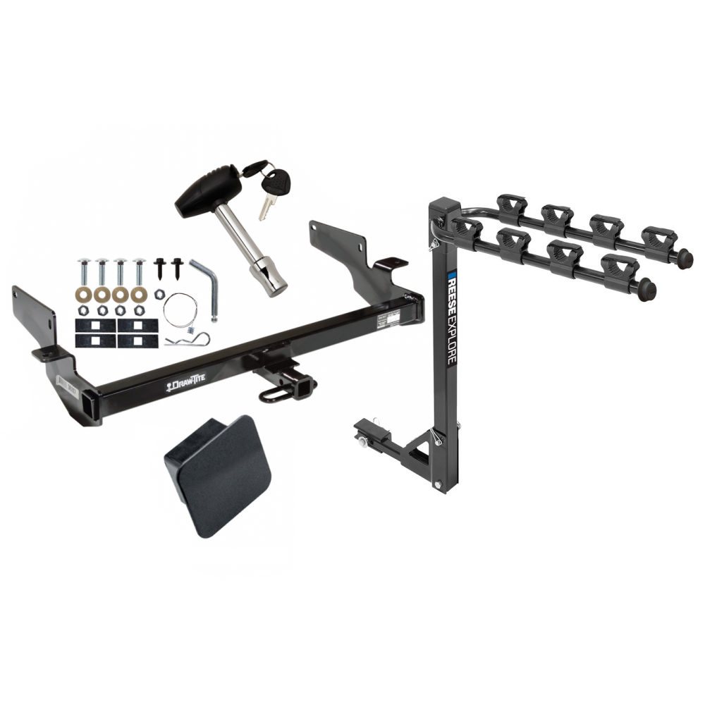 Trailer Tow Hitch W/ 4 Bike Rack For 00-05 Cadillac