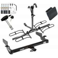 Trailer Tow Hitch For 00-05 Cadillac DeVille 06-11 DTS Platform Style 2 Bike Rack Hitch Lock and Cover