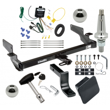 """Trailer Tow Hitch For 00-05 Cadillac DeVille Ultimate Package w/ Wiring Draw Bar Kit Interchange 2"""" 1-7/8"""" Ball Lock and Cover"""
