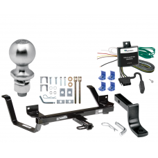 "Trailer Tow Hitch For 99-05 Oldsmobile Alero Pontiac Grand Am Complete Package w/ Wiring Draw Bar Kit and 2"" Ball"