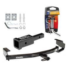 "Trailer Tow Hitch For 96-07 Chrysler Dodge Plymouth Town & Country Grand Caravan Voyager w/ 2"" Adapter and Pin/Clip"