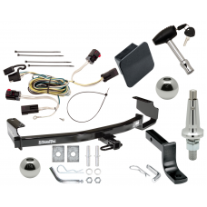 """Trailer Tow Hitch For 04-07 Chrysler Dodge Town & Country Grand Caravan Ultimate Package w/ Wiring Draw Bar Kit Interchange 2"""" 1-7/8"""" Ball Lock and Cover"""