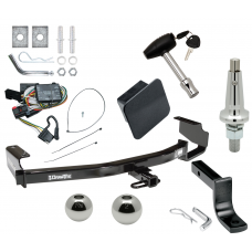 "Trailer Tow Hitch For 96-00 Chrysler Dodge Plymouth Town & Country Grand Caravan Voyager Ultimate Package w/ Wiring Draw Bar Kit Interchange 2"" 1-7/8"" Ball Lock and Cover"