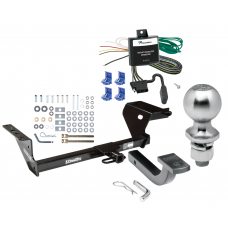"Trailer Tow Hitch For 95-00 Chrysler Cirrus Plymouth Breeze 01-06 Sebring 95-06 Dodge Stratus Complete Package w/ Wiring Draw Bar Kit and 2"" Ball"