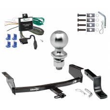 "Trailer Tow Hitch For 02-07 Jeep Liberty Class 2 Complete Package w/ Wiring Draw Bar Kit and 2"" Ball"