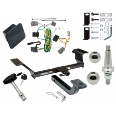 """Trailer Tow Hitch For 06-09 Buick Lucerne Except Super & Special Edition Ultimate Package w/ Wiring Draw Bar Kit Interchange 2"""" 1-7/8"""" Ball Lock and Cover"""