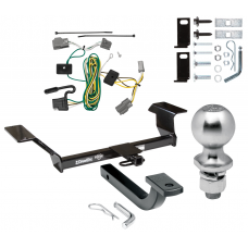 "Trailer Tow Hitch For 06-09 Buick Lucerne Except Super & Special Edition Complete Package w/ Wiring Draw Bar Kit and 2"" Ball"
