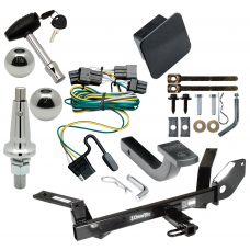 """Trailer Tow Hitch For 00-03 Ford Taurus Mercury Sable Sedan Ultimate Package w/ Wiring Draw Bar Kit Interchange 2"""" 1-7/8"""" Ball Lock and Cover"""