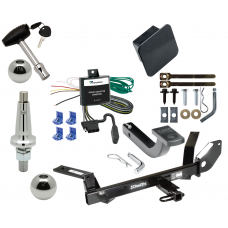 """Trailer Tow Hitch For 00-03 Ford Taurus 04-05 Mercury Sable Ultimate Package w/ Wiring Draw Bar Kit Interchange 2"""" 1-7/8"""" Ball Lock and Cover"""